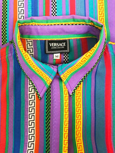 "Chemise ""Versace Jeans Couture"" Vintage à Rayures"