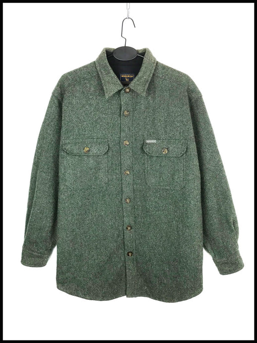 Chemise Vintage Woolrich Laine Fines Rayures
