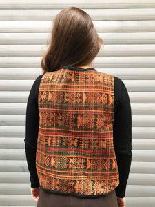 Gilet Sans Manches Style Mexicain Vintage