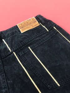 "Jean Mom ""Closed"" Vintage Noir"