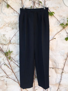 "Pantalon Pinces ""Yves Saint Laurent"" Vintage Noir"