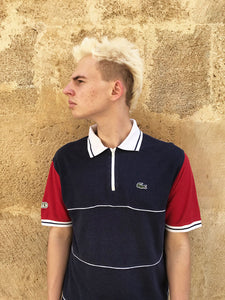 "Polo ""Lacoste"" Vintage Col Zippe"