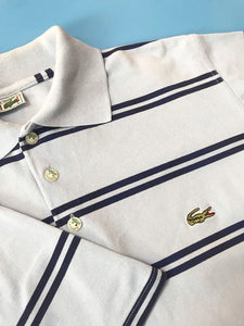 "Polo ""Lacoste"" Vintage Rayures Bleues"