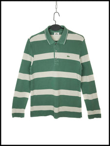 Polo Lacoste Vintage Rayures Manches Longues