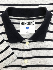 "Polo ""Moschino"" Vintage à Rayures"
