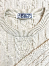 "Charger l'image dans la galerie, Pull ""Burberry"" Vintage Maille Torsadee Broderie Burberry"