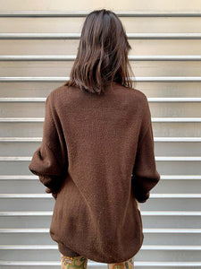 Pull Caniches Bijoux Perles Marron