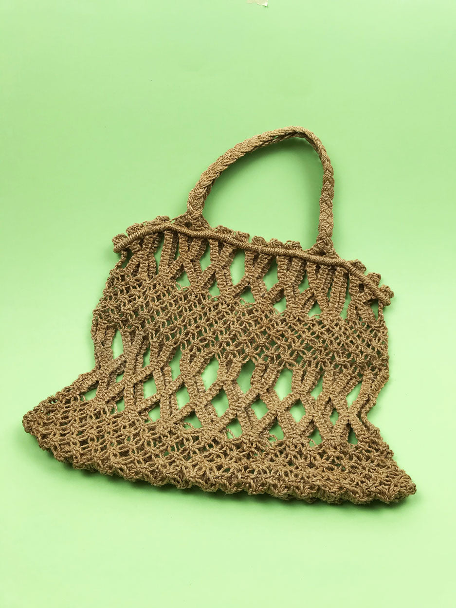 Sac crochet naturel