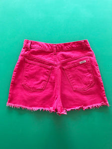 Mini Short Jean Rose Fluo Vintage