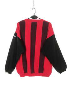 Adidas Sweat Vintage Bicolore Rouge et Noir