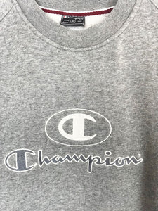 Sweat Champion Vintage Gris Chiné Manches Longues