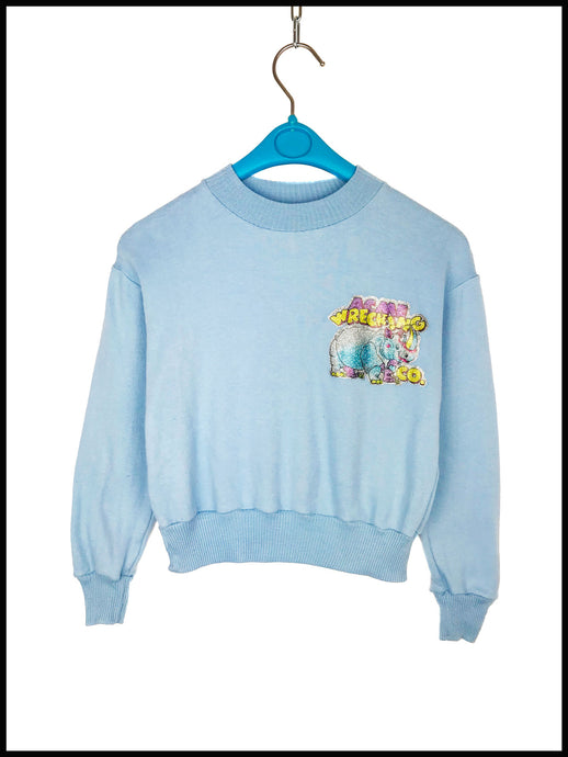 Sweat Vintage Enfant Magic Rhinoceros bleu ciel