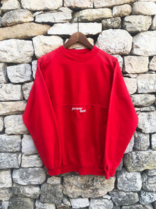 "Sweat Rouge Vintage ""Jacques Darel"" 1980"
