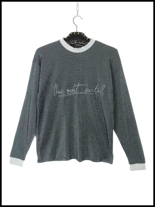 Sweat en Lurex Argenté Vintage Made in France