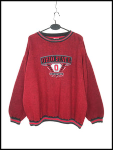 "Sweat ""Ohio State Buckeyes"" Vintage Rouge et Noir"