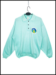 Sweat Vintage Golfer Col Pointu Boutons Pression