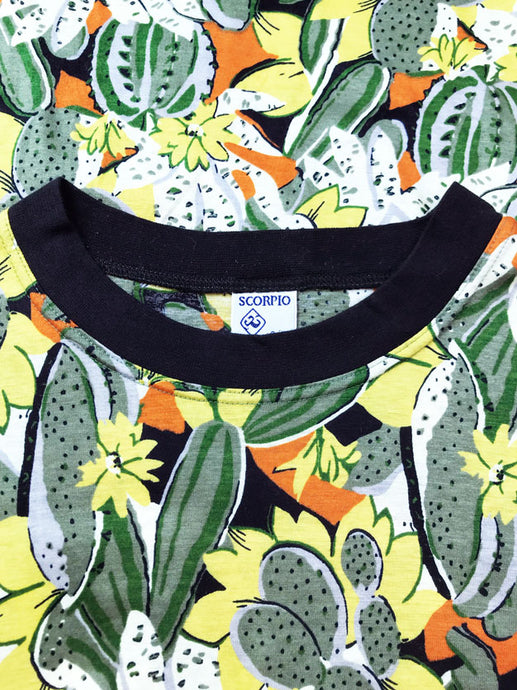 T Shirt Motif All Over Cactus Vintage
