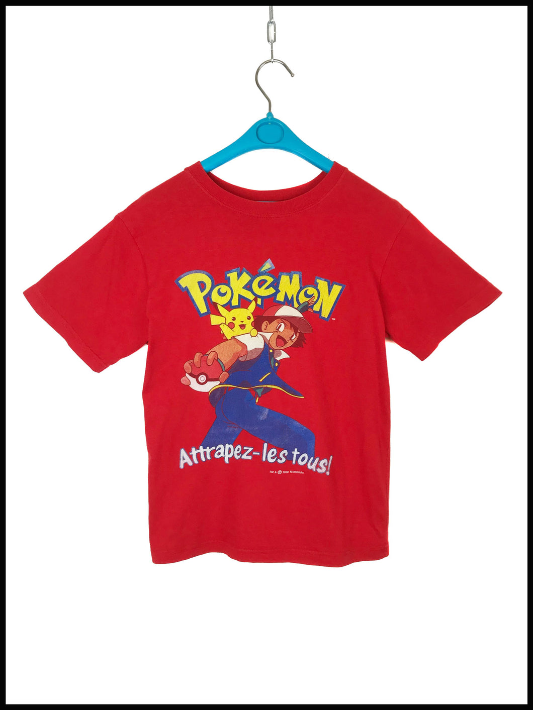 T Shirt Pokemon Vintage 1990 Rouge