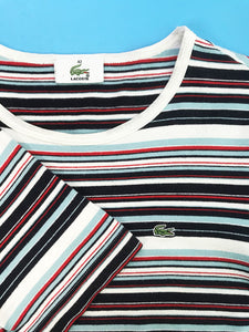 "T-Shirt ""Lacoste"" Femme Vintage Rayures"