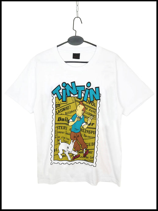 T Shirt Tintin Vintage Daily News