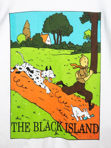 T Shirt Tintin Vintage The Black Island