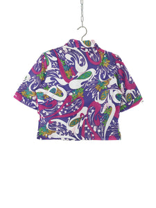 Top Court Vintage 1970 Motif Psychedelique