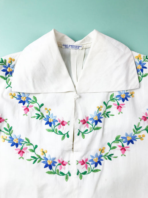 Blouse Broderie Mexicaine Vintage