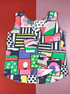 Top Pop Art Multicolore Vintage