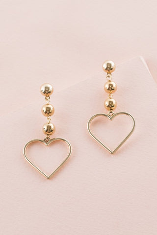 Queen of Hearts Earrings - Gold