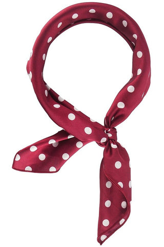 Polkdot Play Scarf- Burgundy