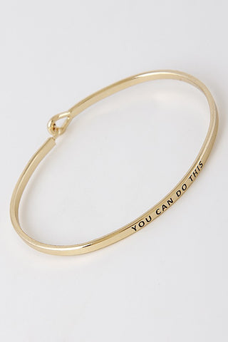 Wear Your Words On Your Sleeve Bracelet- You Can Do This in Gold