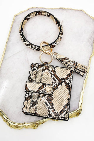 ID Wallet Bangle- Snakeskin