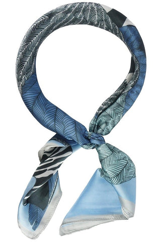 Artisan Animal Scarf- Sky
