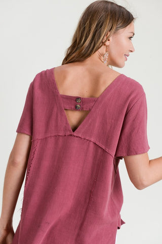 Banded Back Top