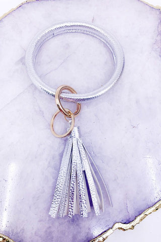 Brilliant Bangle Keychain - Silver