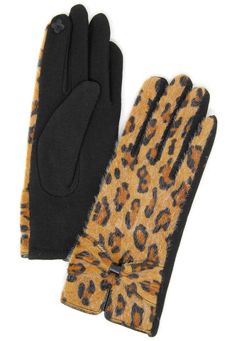 Leopard Tech Tip Gloves