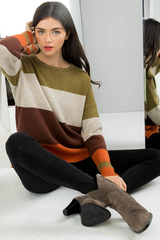 Cool in Colorblock Sweater