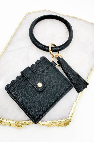 ID Wallet Bangle- Black
