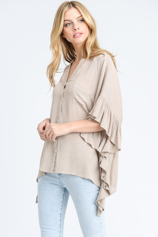 Relaxed & Ruffled Top