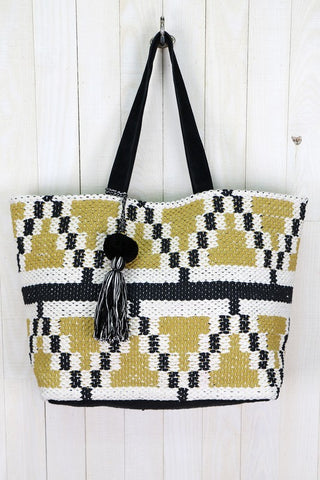 The Everything Tote Bag- Black Citron