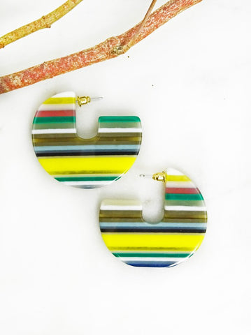Multi Stripe Earrings