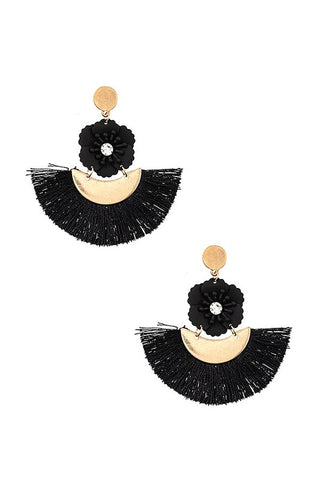 Flowers & Tassels Earrings