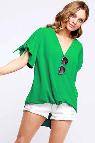Emerald Isle Tie Sleeve Top