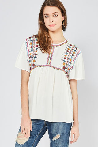 Embroidered Festival Top