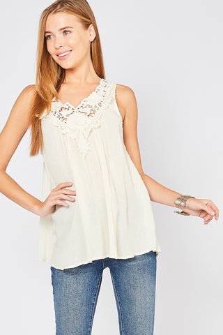 Delicate Details Embroidered Tank