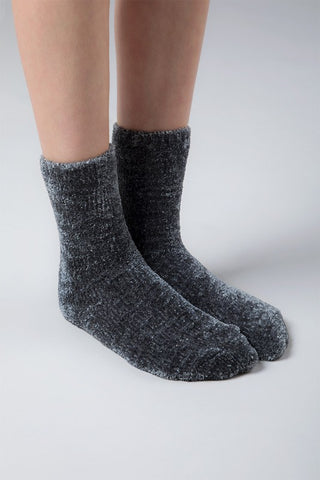 Softest Chenille Socks - Charcoal