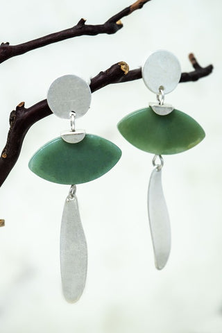 Novel Natural Stone Earrings - Amazonite