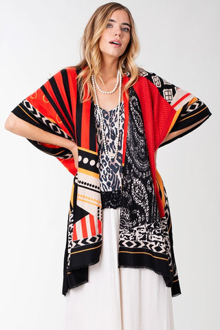 Pretty Patterns Kimono - Red
