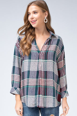 Playful Plaid Top