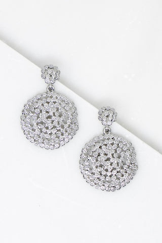 Charming Circle Earrings - Silver